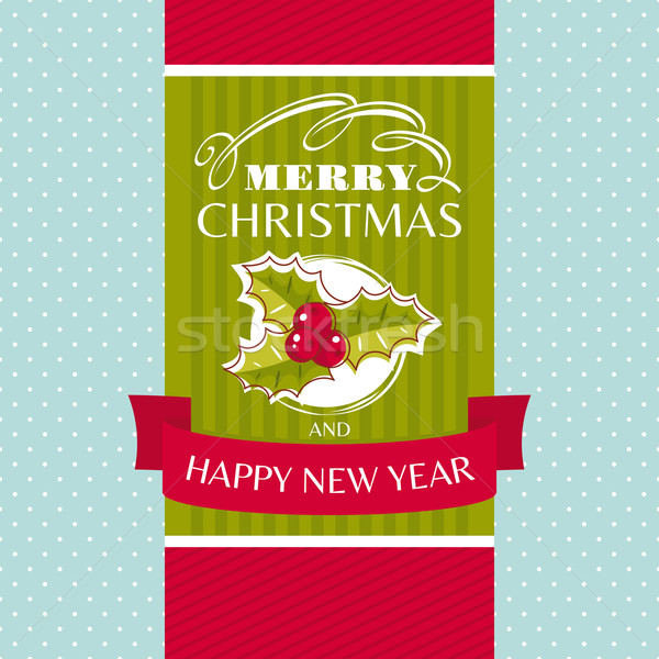 Christmas greeting card Stock photo © SelenaMay