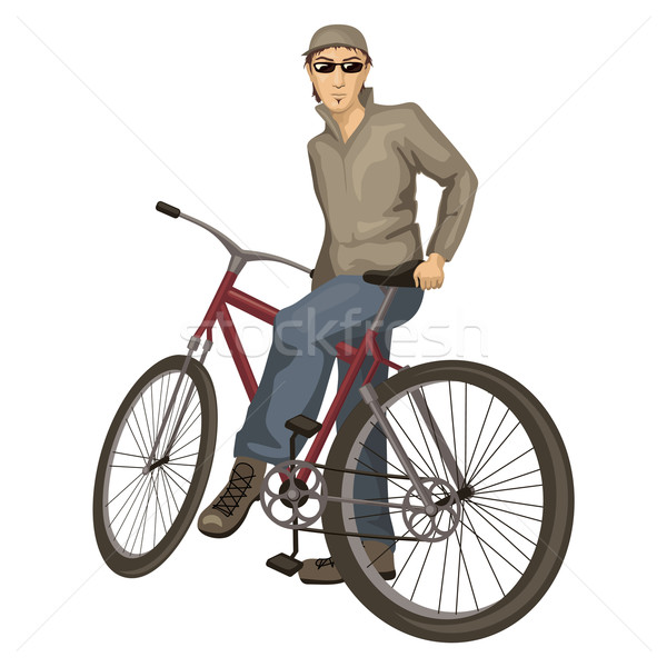 young man on a bicycle Stock photo © SelenaMay