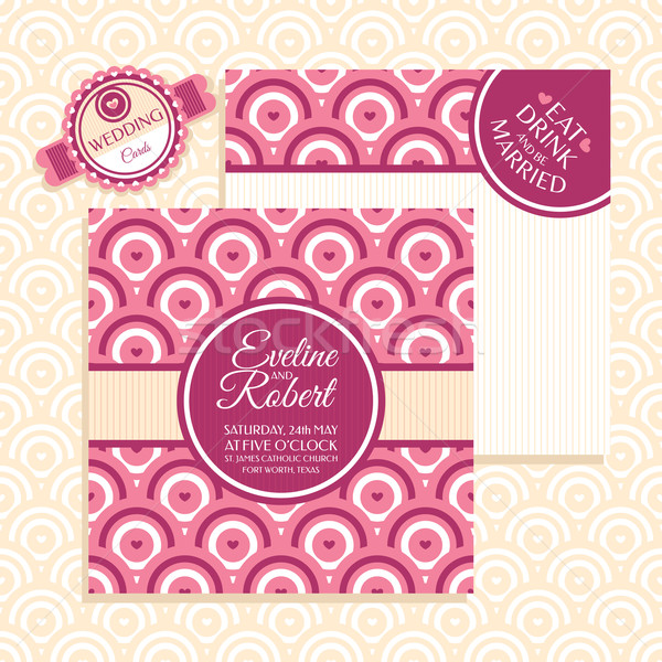 Retro wedding card Stock photo © SelenaMay