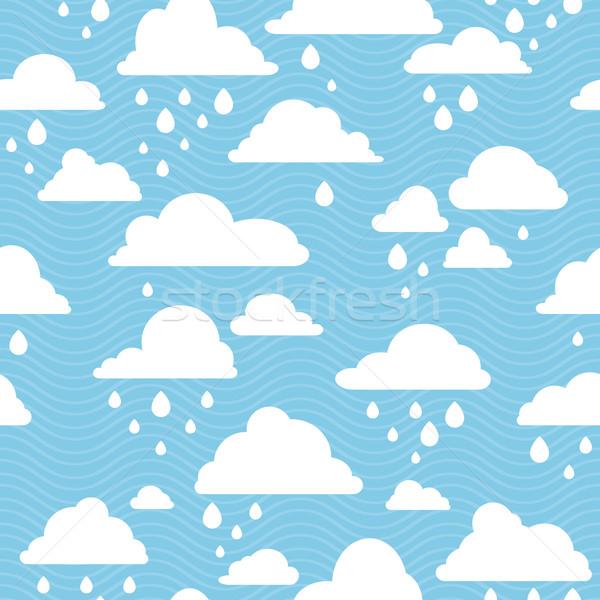 雨の 雲 青空 ベクトル 水 ストックフォト © SelenaMay