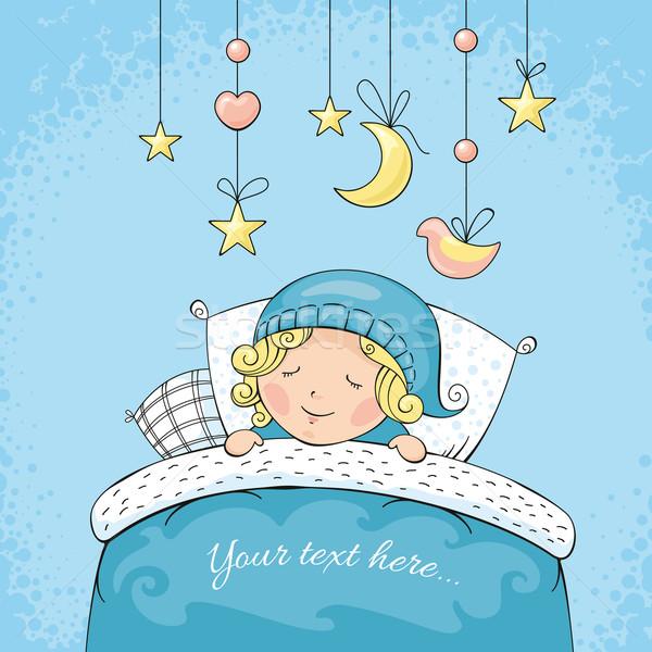 Adorable dormir enfant résumé chambre amusement Photo stock © SelenaMay