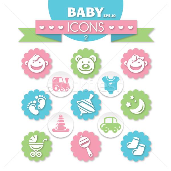 collection of universal baby icons Stock photo © SelenaMay