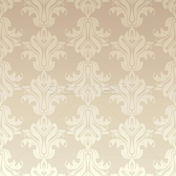 Bezszwowy adamaszek tapety tekstury vintage wzór Zdjęcia stock © SelenaMay