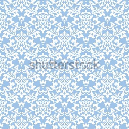 Naadloos damast abstract behang textuur blad Stockfoto © SelenaMay