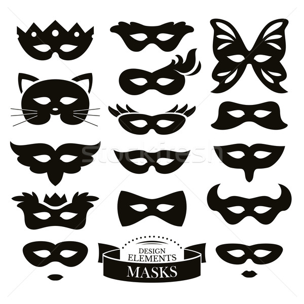 Set of different masks Stock photo © SelenaMay