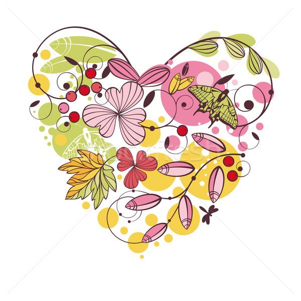 フローラル 春 カード 抽象的な かわいい デザイン ストックフォト © SelenaMay