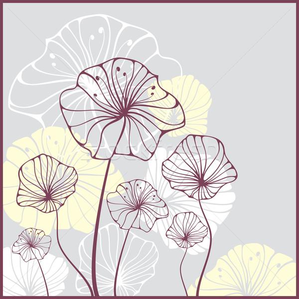 カード 花 かわいい 抽象的な 春 自然 ストックフォト © SelenaMay