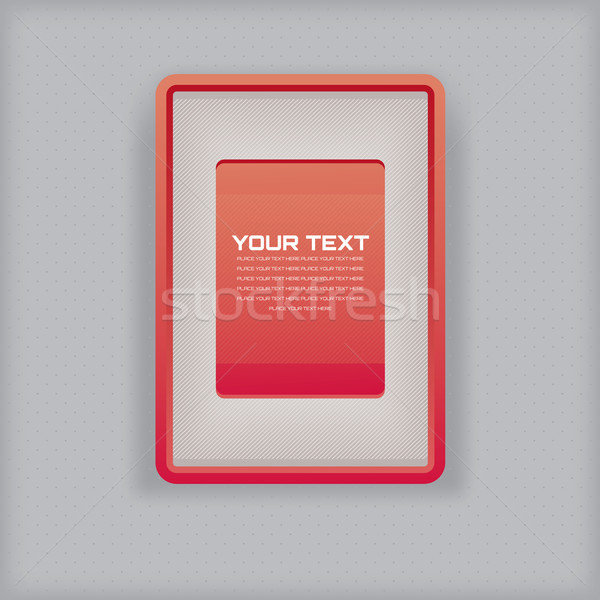 abstract simple red picture frame Stock photo © SelenaMay