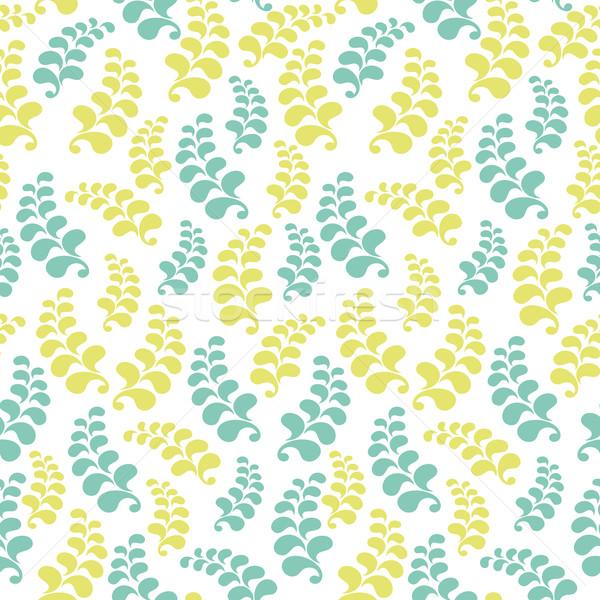 бесшовный цветочный шаблон текстильной веб Сток-фото © SelenaMay