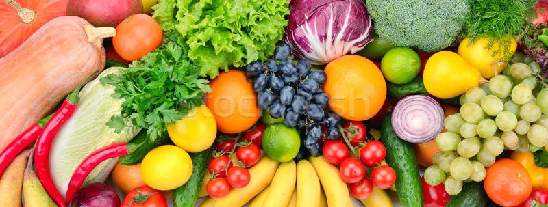 Vers vruchten groenten groene citroen salade Stockfoto © serg64