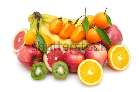 свежие плодов изолированный белый фон оранжевый Сток-фото © serg64