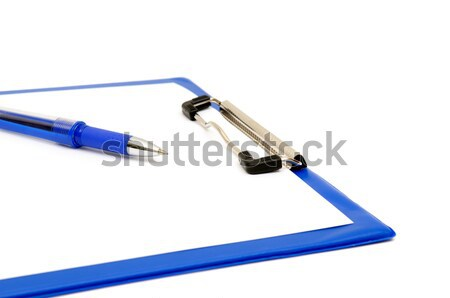 clipboard and ballpoint Stock photo © Serg64