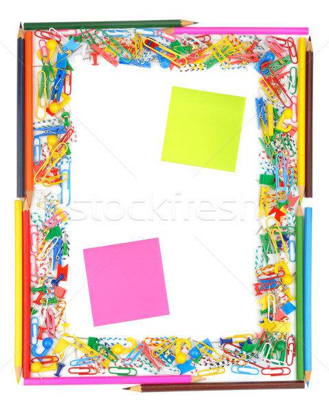 Frame of office supplies Stock photo © Serg64