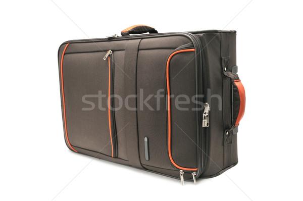 Bavul yalıtılmış beyaz moda arka plan alışveriş Stok fotoğraf © Serg64