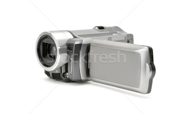 Kamera yalıtılmış beyaz video kayıt resim Stok fotoğraf © Serg64