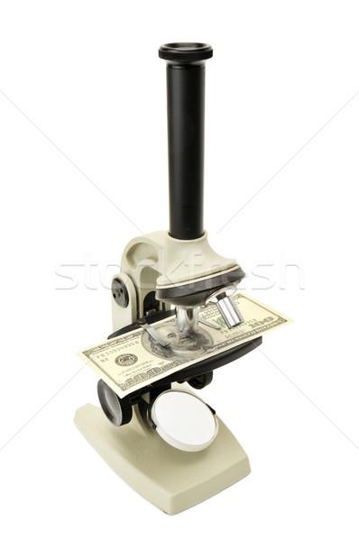 microscope and money Stock photo © Serg64