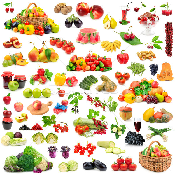 Large collection of fruits and vegetables healthy. Stock photo © serg64