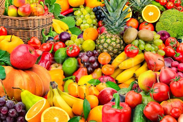 Grande coleção frutas legumes saudável Foto stock © serg64