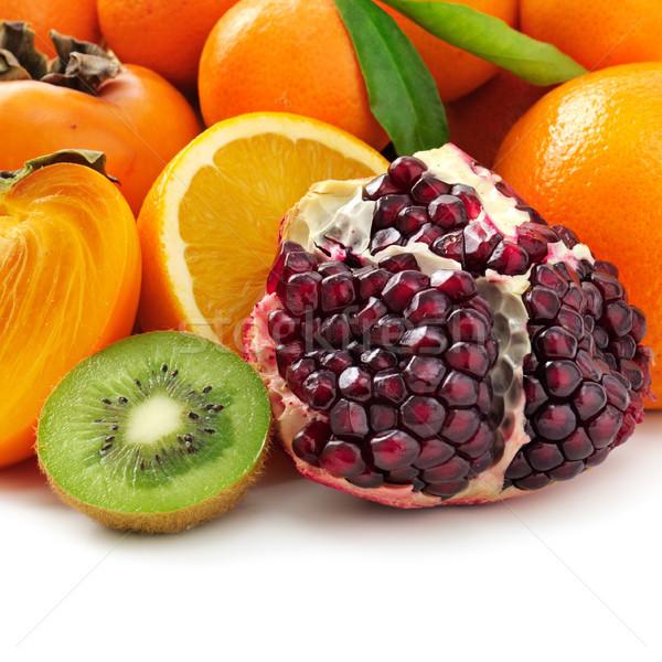 Collectie vruchten geïsoleerd witte voedsel vruchten Stockfoto © serg64