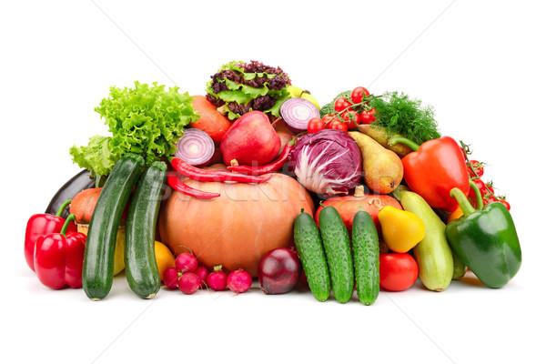 свежие плодов овощей изолированный белый зеленый Сток-фото © serg64