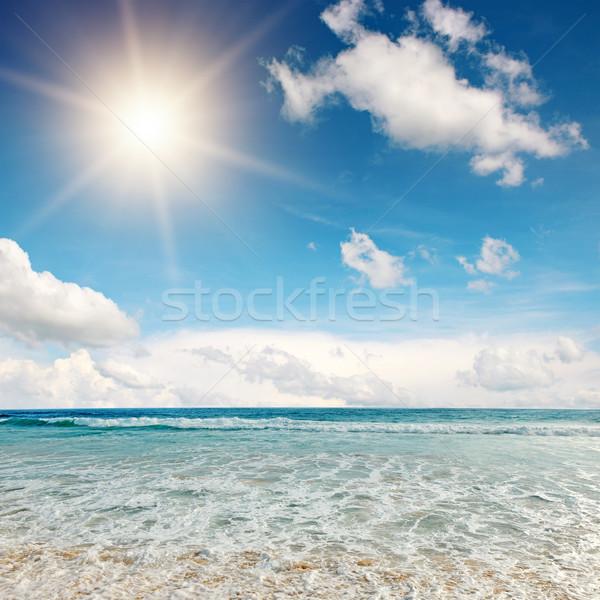 Belle sunrise mer eau printemps résumé Photo stock © Serg64