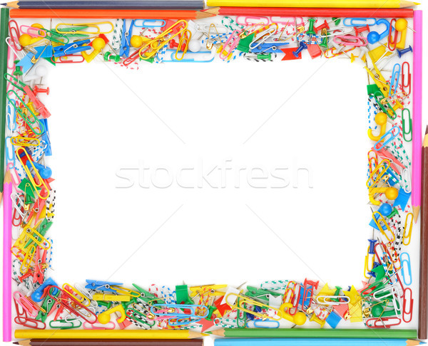 Quadro isolado branco papel escolas Foto stock © serg64