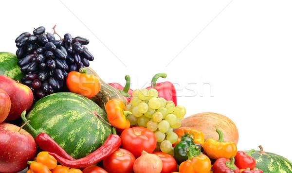 коллекция фрукты овощей изолированный белый продовольствие Сток-фото © serg64