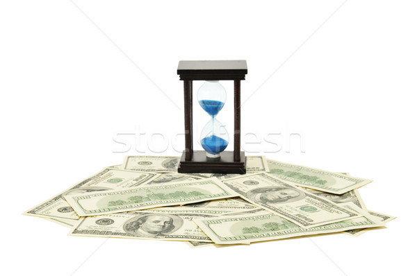 Stock photo: sand-glass and dollar