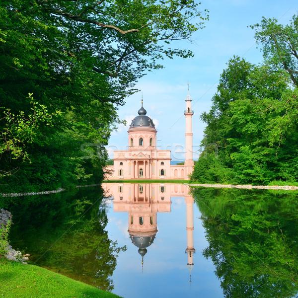 Mezquita lago Alemania iglesia azul Foto stock © Serg64