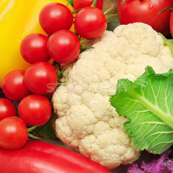 Zöldségek zöld csoport piros piac szín Stock fotó © serg64