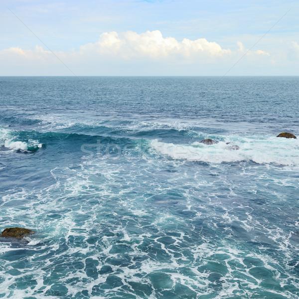 Beautiful ocean waves and blue sky Stock photo © serg64