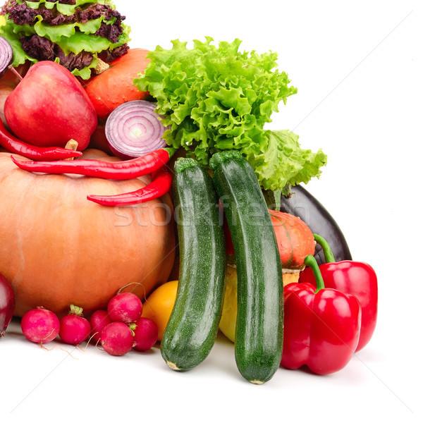 Vers vruchten groenten geïsoleerd witte groene Stockfoto © serg64