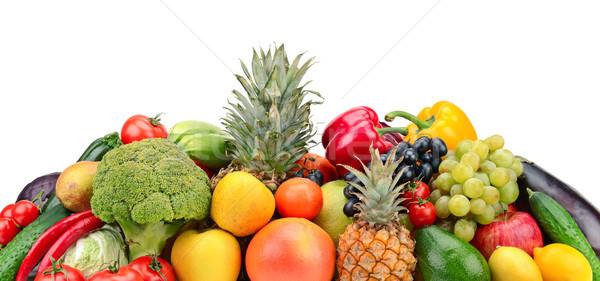 Fruto vegetal isolado branco maçã verde Foto stock © serg64
