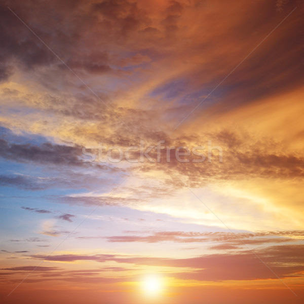 Beautiful bright sunset. Heavenly background. Stock photo © serg64