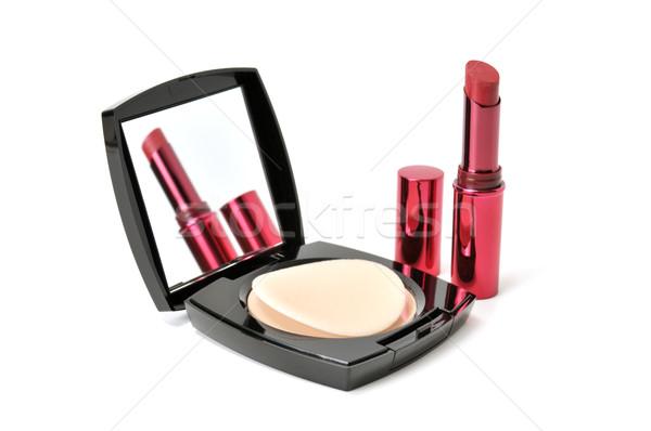 face powder and lipstick  Stock photo © Serg64