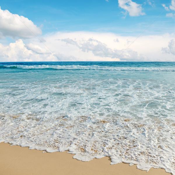 морем волны Blue Sky пляж солнце пейзаж Сток-фото © serg64