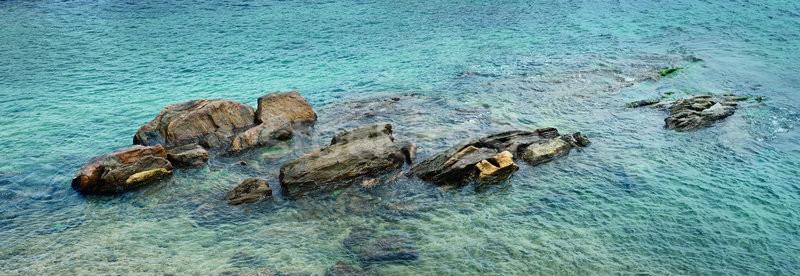 Beautiful stones in the ocean Stock photo © serg64