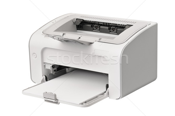 Laser impressora isolado branco computador escritório Foto stock © serg64