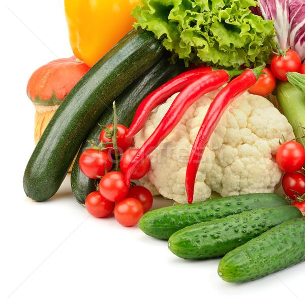 Verse groenten geïsoleerd witte voedsel groene Rood Stockfoto © serg64