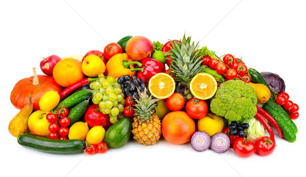 коллекция свежие плодов овощей изолированный белый Сток-фото © serg64
