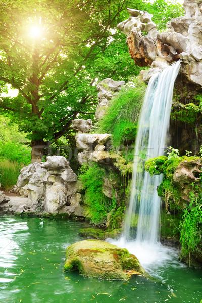 Waterfall sunlit Stock photo © Serg64