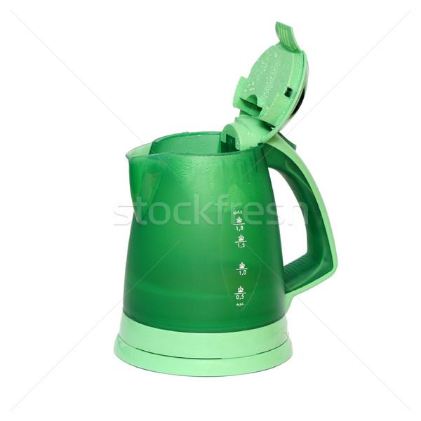 Elektrische ketel geïsoleerd witte kantoor water Stockfoto © Serg64