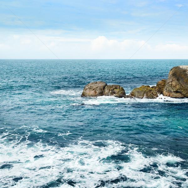 large rock in the ocean Stock photo © serg64