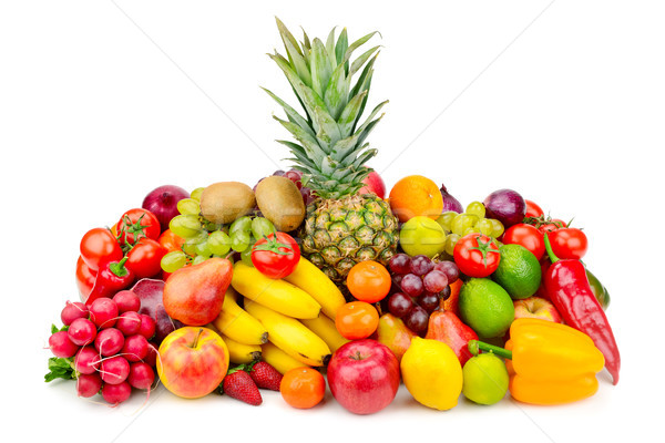 Collection juicy fruits and vegetables Stock photo © serg64