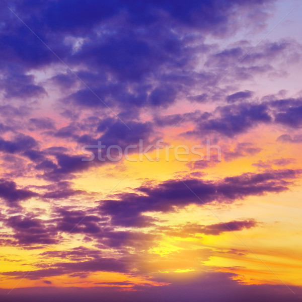 Pôr do sol belo céu nuvens primavera luz Foto stock © Serg64