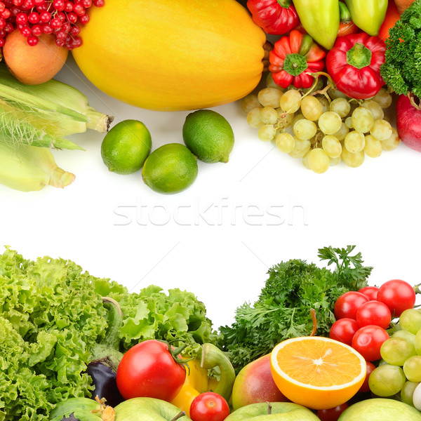 fruits and vegetables isolated on a white background Stock photo © Serg64