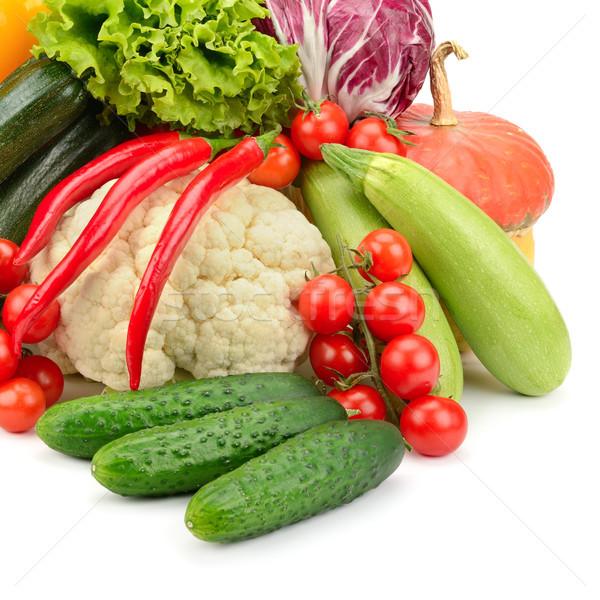 Taze sebze yalıtılmış beyaz gıda yeşil kırmızı Stok fotoğraf © serg64