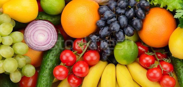 Conjunto fruto vegetal comida fundo grupo Foto stock © serg64