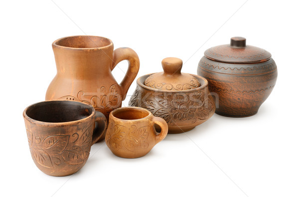 Set clay utensils Stock photo © serg64