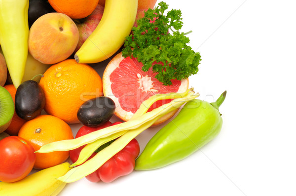 Vruchten groenten geïsoleerd witte appel vruchten Stockfoto © Serg64